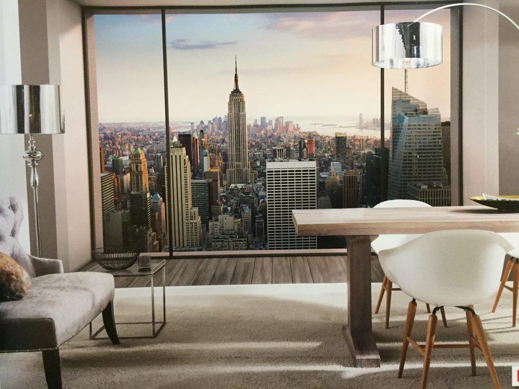 Fotomural ventanal ciudad