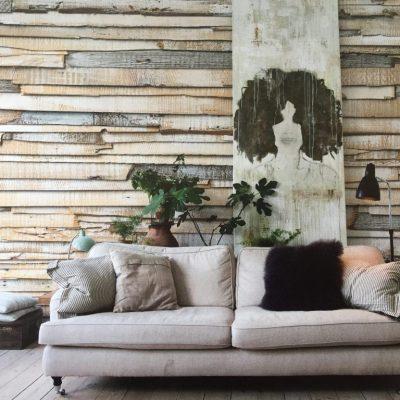Fotomural Muro de madera