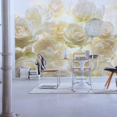 Fotomural Rosas Blancas Komar